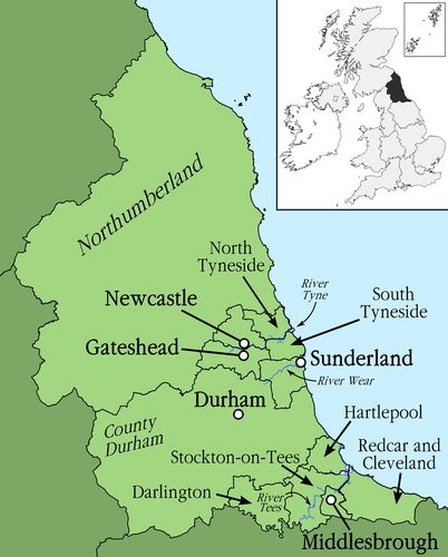 Map Of Uk Newcastle.Talk Of The Toon Ne Dialects