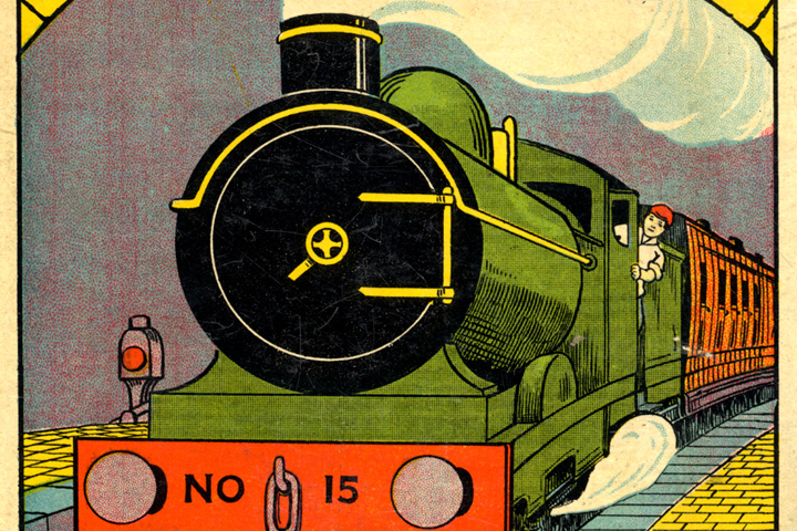 Detail from 'Tales of the Train' book cover