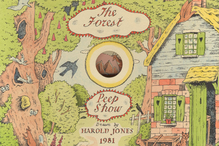 Detail from the cover of 'The Forest Peep Show' by Harold Jones
