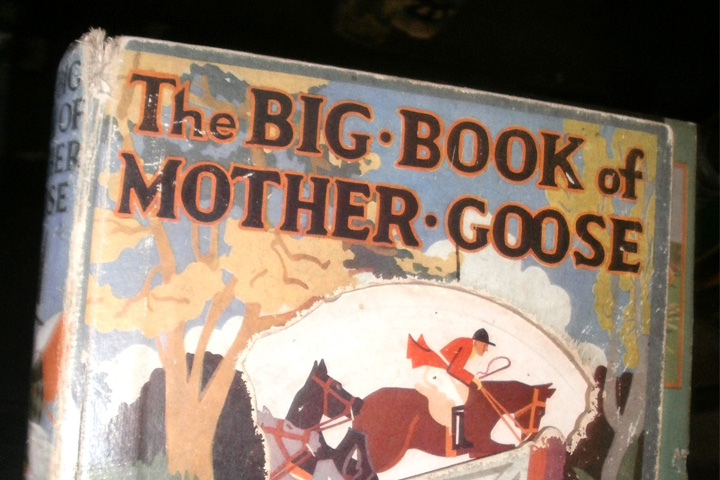 Cover detail from 'The Big Book of Mother Goose'