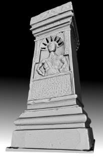 A 3D scan and render of an altar dedicated to Mithras from Carrawburgh mithraeum