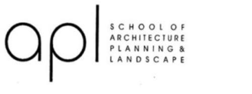 School of Architecture, Planning & Landscape logo