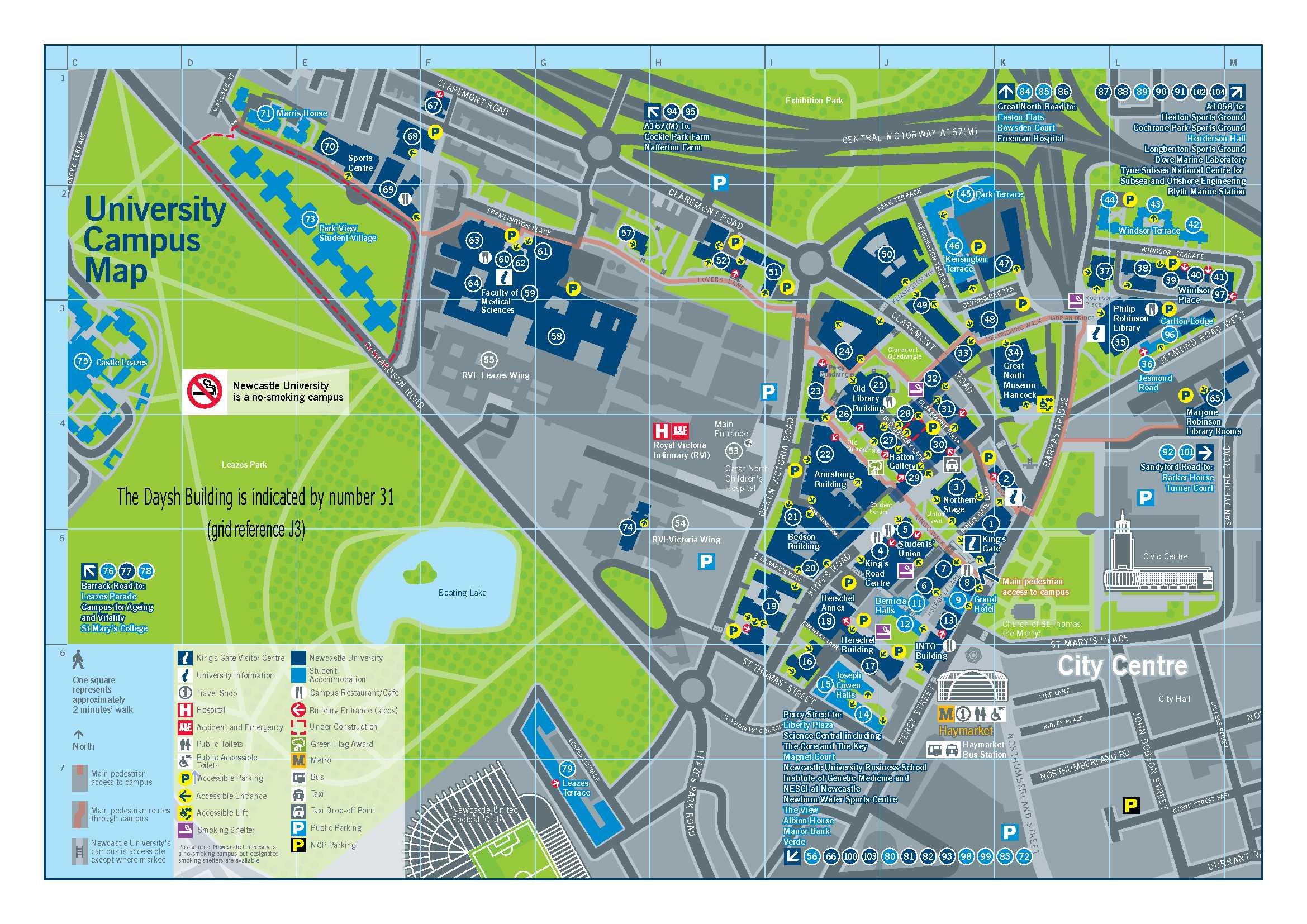 Newcastle Campus Map News & Events | North East Centre for Energy Materials (NECEM