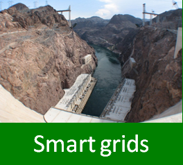 Graphic with text: smart grids