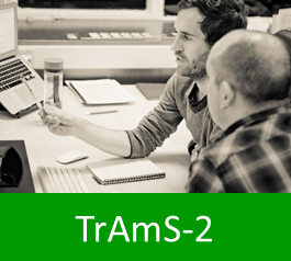 Graphic with text: trams2