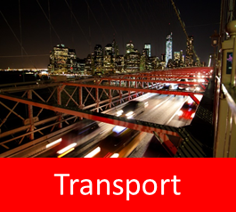 Graphic with text: transport